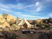 <p>Hope Clare/Tayshia are into glamping! </p>