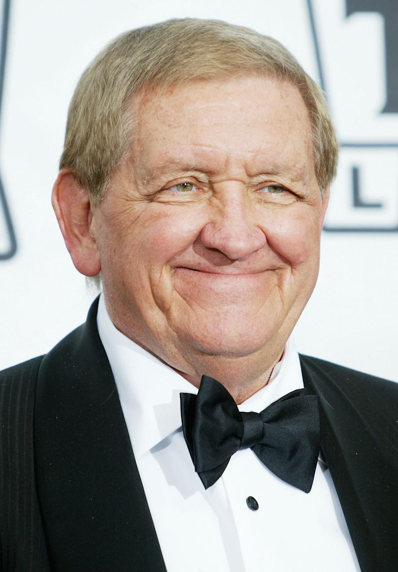 """HOLLYWOOD, CA - MARCH 7:  Actor George Lindsey of """"The Andy Griffith Show"""" attends the 2nd Annual TV Land Awards held at The Hollywood Palladium, March 7, 2004 in Hollywood, California. Lindsey, best known as Goober Pyle on 'The Andy Griffith Show' has died at age 83. (Photo by Frederick M. Brown/Getty Images)"""