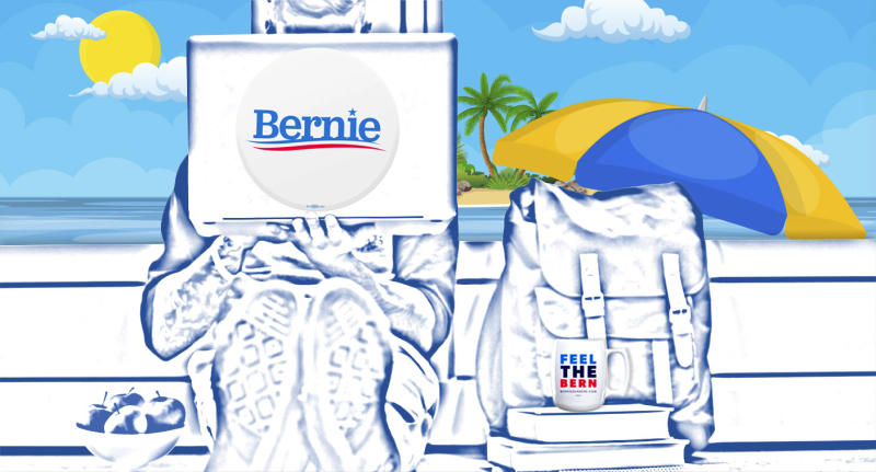 Bernie Sanders' online summer school. (Photo illustration: Yahoo News; photos: Getty Images)