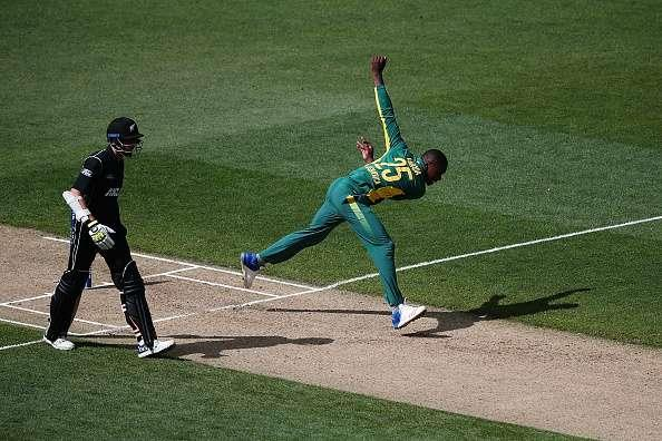 AUCKLAND, NEW ZEALAND - MARCH 04: Kagiso Rabada of South Africa bowls during game five of the One Day International series between New Zealand and South Africa at Eden Park on March 4, 2017 in Auckland, New Zealand. (Photo by Anthony Au-Yeung/Getty Images)