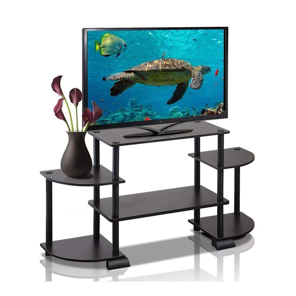 <p>If you have limited space, this <span>Furinno Turn-N-Tube TV Stand</span> ($38) is perfect for you and adds extra storage.</p>