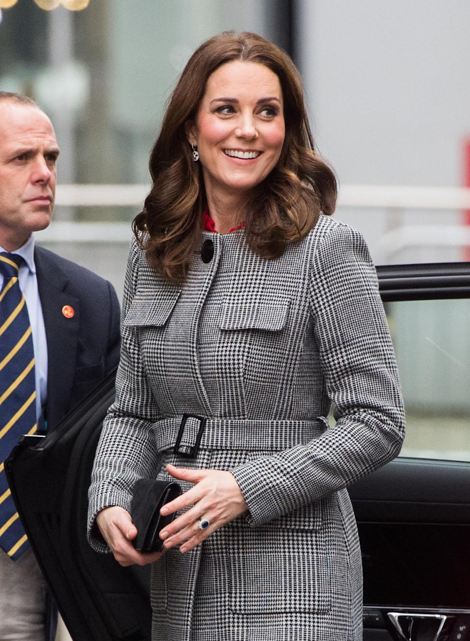 <p>Both the Duchess of Cambridge and the Queen are always seen wearing neutral-coloured nail polish, but this is likely not due to personal choice and more about royal etiquette. Royal wardrobe rules state that no coloured nail polish should be worn during public engagements.</p>