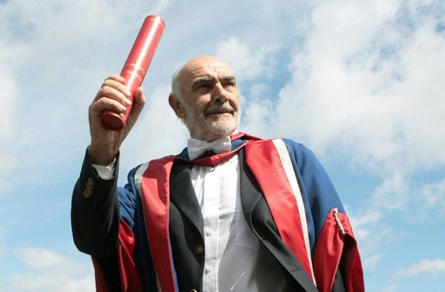 Sir Sean collecting an honorary degree from Edinburgh's Napier University (David Cheskin/PA)
