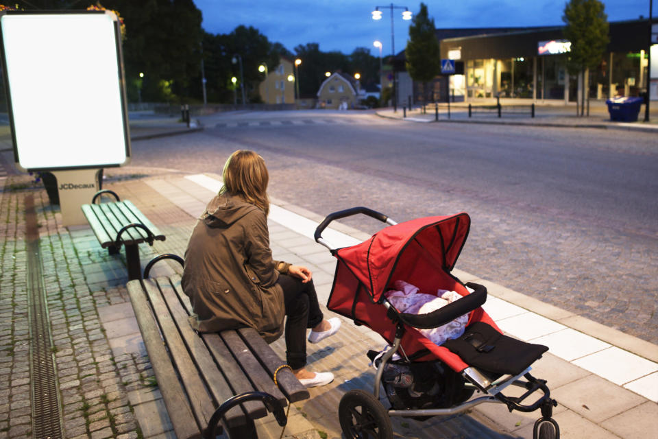 Half of new parents report feeling lonely [Photo: Getty]