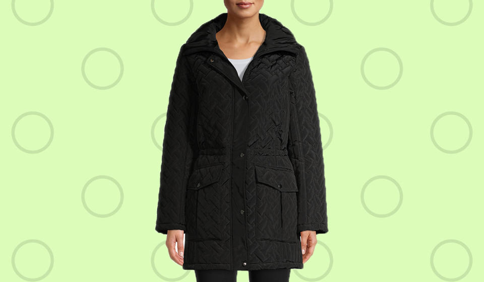 Bundle up in this quilted coat. (Photo: Walmart)