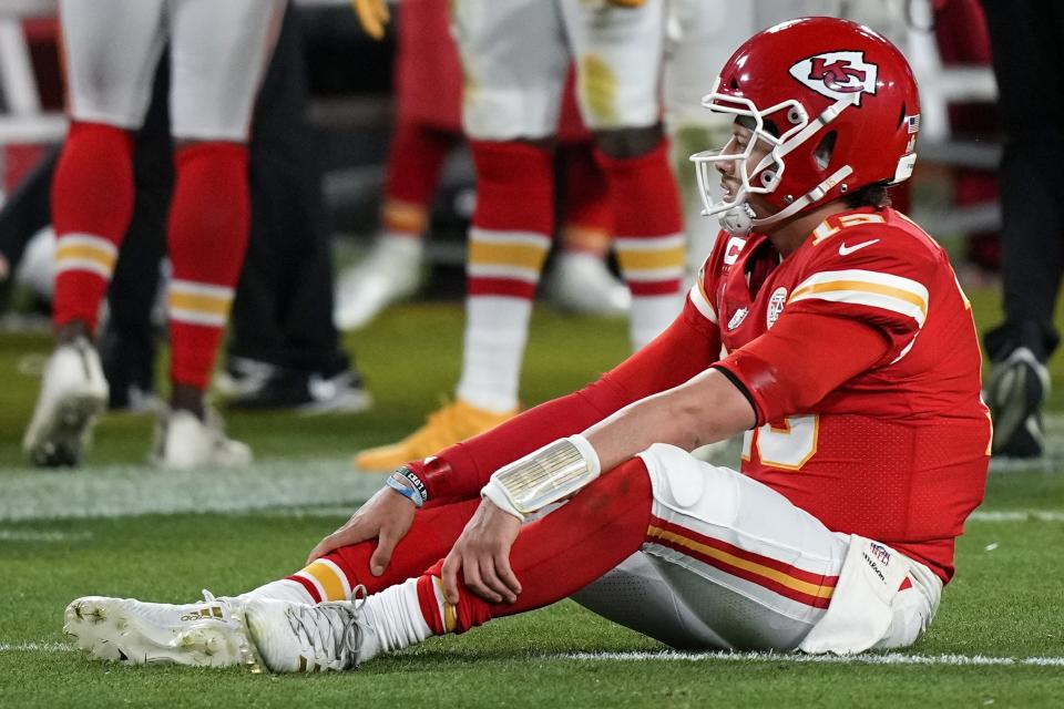 Patrick Mahomes wasn't great on Sunday. But his receivers repeatedly failed him in critical moments. (AP Photo/David J. Phillip)