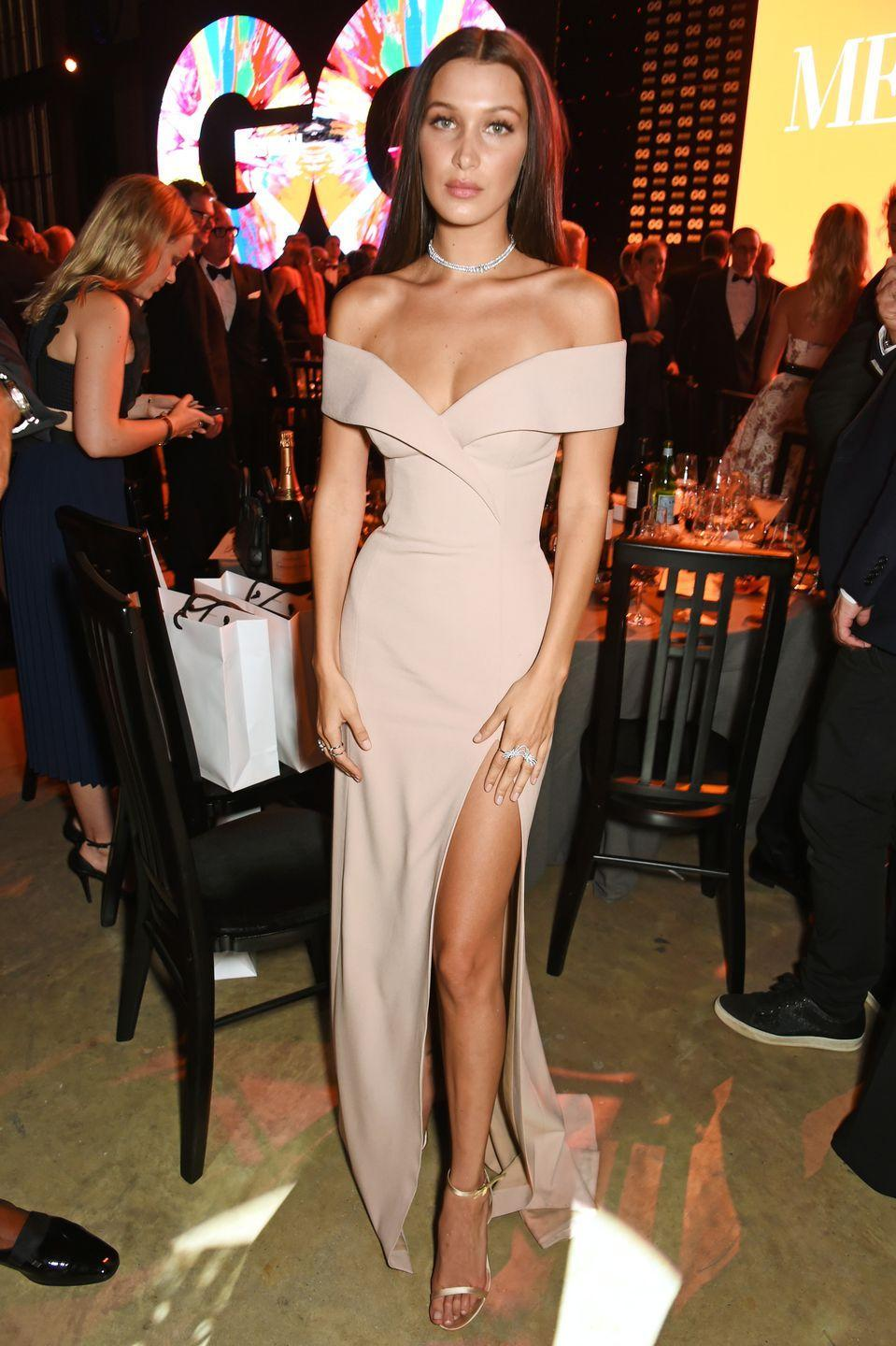 <p>Bella Hadid at the GQ Men Of The Year Awards after party, September 2016.</p>