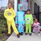 """<p>The whole gang is here thanks to this adorable costume idea. The best part of these outfits is that they are super comfy and super warm, making them perfect for Halloween night. </p><p><em><a href=""""https://www.instagram.com/p/B3z9zkdBri7/"""" rel=""""nofollow noopener"""" target=""""_blank"""" data-ylk=""""slk:See more on Instagram »"""" class=""""link rapid-noclick-resp"""">See more on Instagram »</a></em></p>"""