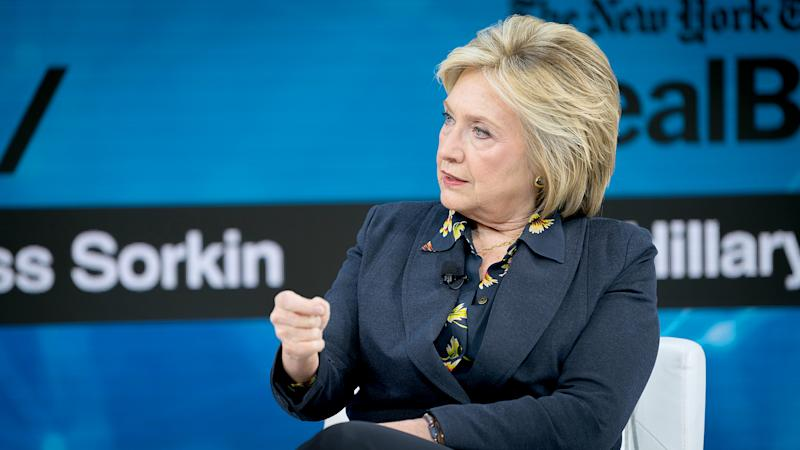 Hillary Clinton says that many people have encouraged her to run in the 2020 presidential race. (Photo: Mike Cohen/Getty Images)