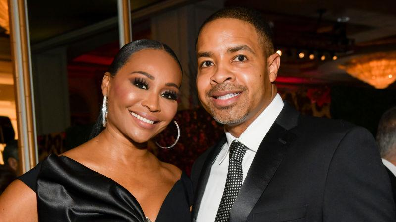 Cynthia Bailey and Mike Hill at The Women's Cancer Research Fund's An Unforgettable Evening 2020 on February 27, 2020, in Beverly Hills, Calif.