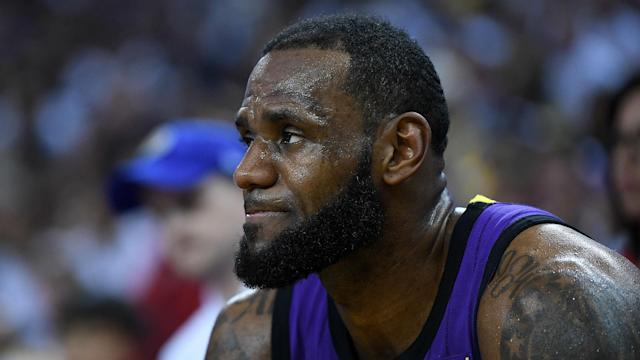 LeBron James discussed Magic Johnson's sudden departure from the Los Angeles Lakers.