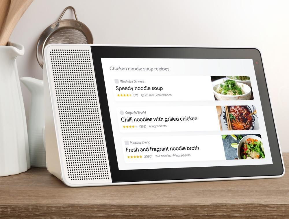 You can use the Smart Display to watch look up recipes, and watch videos explaining how to put them together.