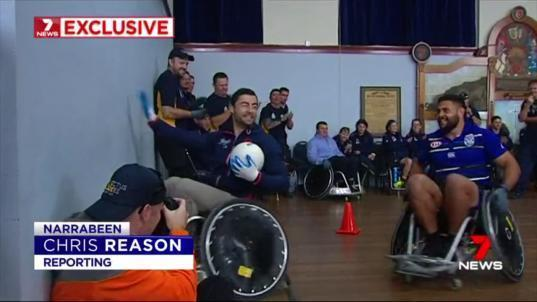 If you think Rugby League is tough, there are a few legends of that game who may have found something that hurts just as much - wheel chair rugby.