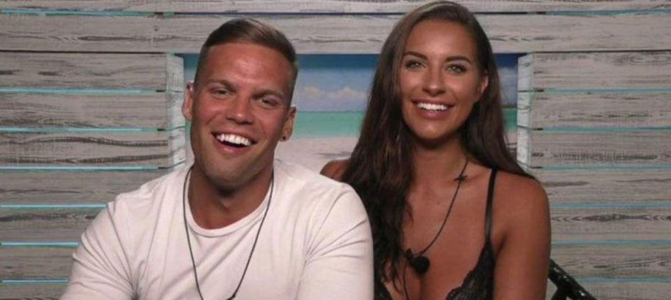 """<p><strong>Relationship status: Still together / Married and have a LOVE ISLAND baby together!</strong></p><p>Dom and Jess are currently the biggest success story of the 2017 series of Love Island. The couple <a href=""""https://www.cosmopolitan.com/uk/entertainment/a24391982/love-islands-jessica-shears-dom-lever-married/"""" rel=""""nofollow noopener"""" target=""""_blank"""" data-ylk=""""slk:tied the knot in October"""" class=""""link rapid-noclick-resp"""">tied the knot in October</a> in an intimate ceremony in Mykonos, Greece.</p><p>They welcomed their first child together in October. Congratulations, guys!</p>"""
