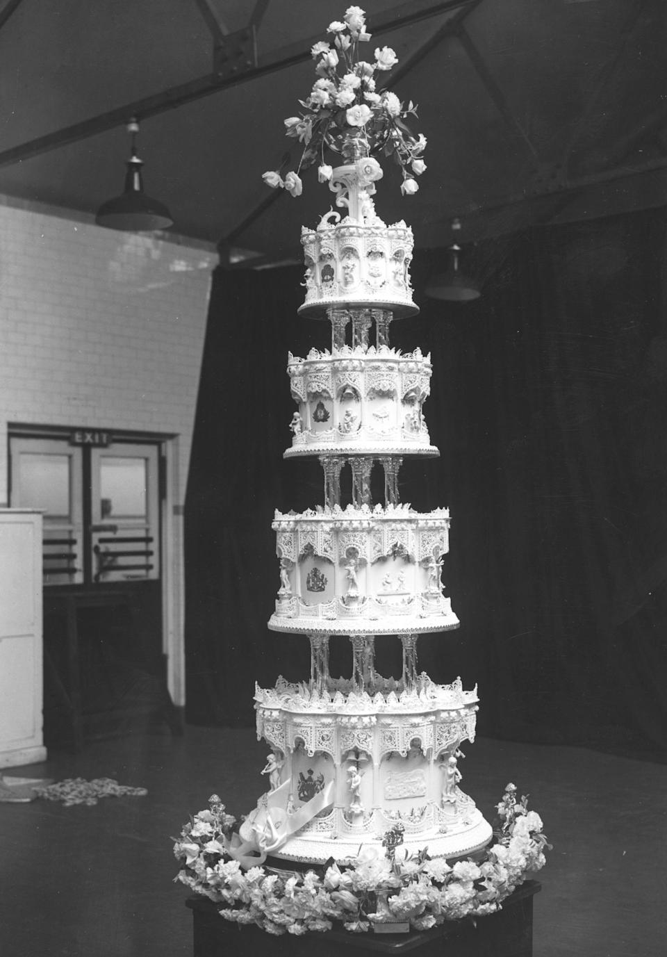 The 9 foot-high wedding cake.