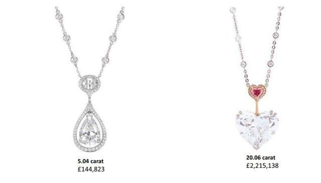 Diamonds stolen from Boodles jewellers in Mayfair (Crown Prosecution Service/PA)