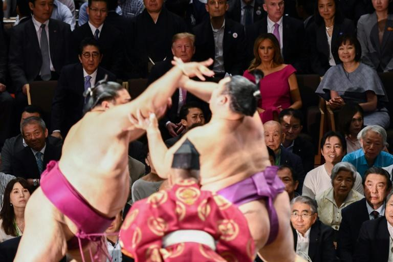 """Trump said he enjoyed his trip to the """"ancient sport"""" of sumo"""