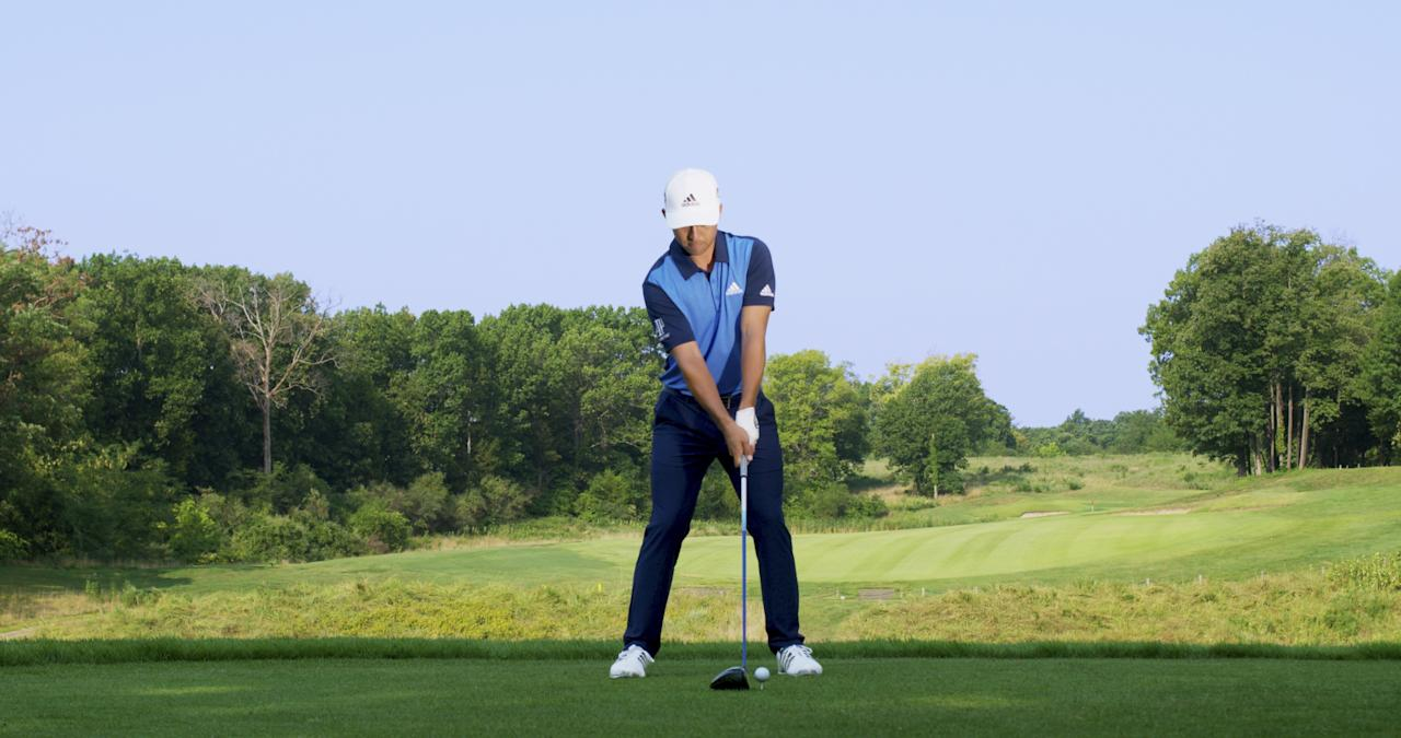 """<strong>Stick to the Script</strong><br> Xander is set up to hit his stock drive—a high-to-mid trajectory flight with a slight draw. """"Setup is designed to be simple and repetitive,"""" explains his father and coach, Stefan. """"The idea is to minimize the number of moving parts in the swing before he takes the club back. And balance is important."""""""