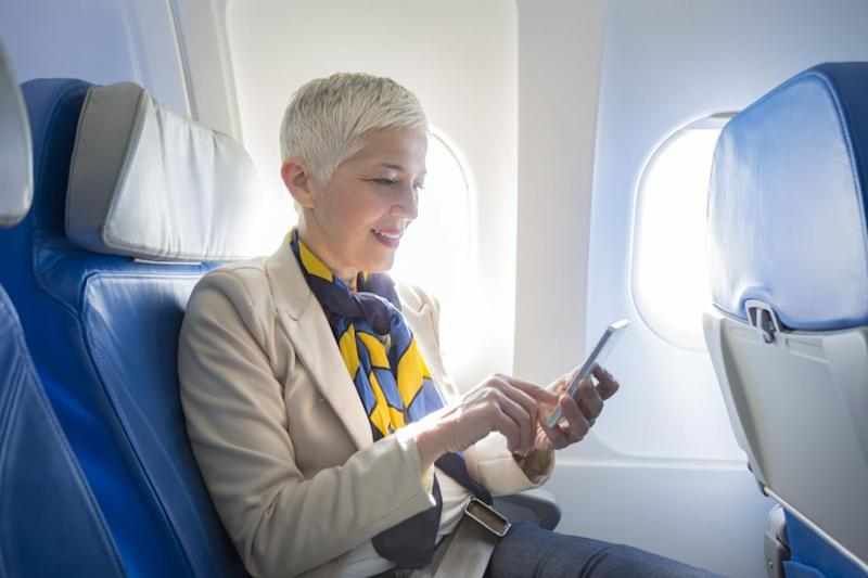 An air steward has revealed you don't really need to turn your phone off. Source: Getty