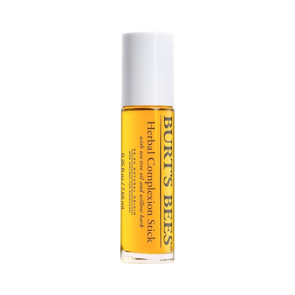 <p>Have you ever been out and about when suddenly you feel a painful pimple forming under the skin? The <span>Burt's Bees Herbal Complexion Stick</span> ($7) is designed for those moments. The tea tree oil-infused complexion stick features an easy, hands-free applicator so you can treat the spot immediately rather than wait until you get home.</p>