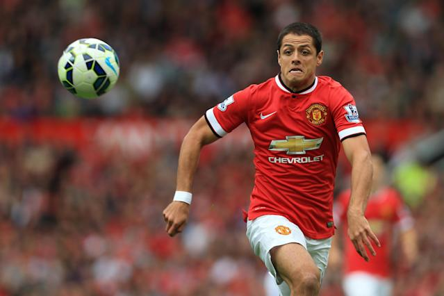 Javier 'Chicharito' Hernández con el Manchester United en 2014. (Photo by Simon Stacpoole/Mark Leech Sports Photography/Getty Images)