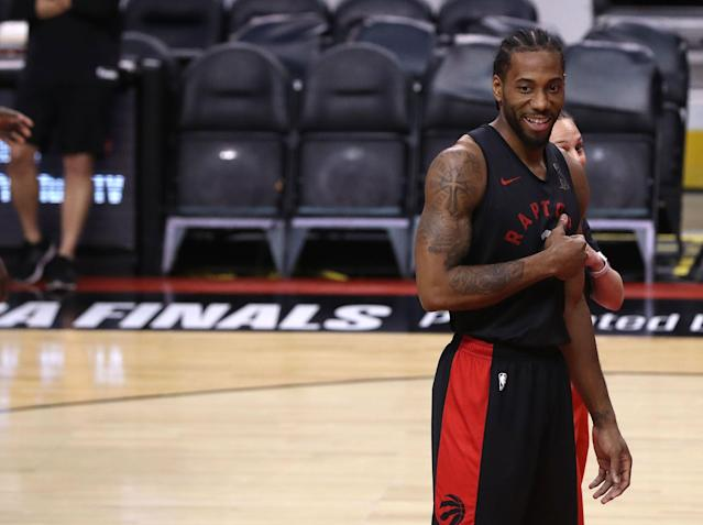 Kawhi Leonard has another shot at the Warriors. (Getty Images)