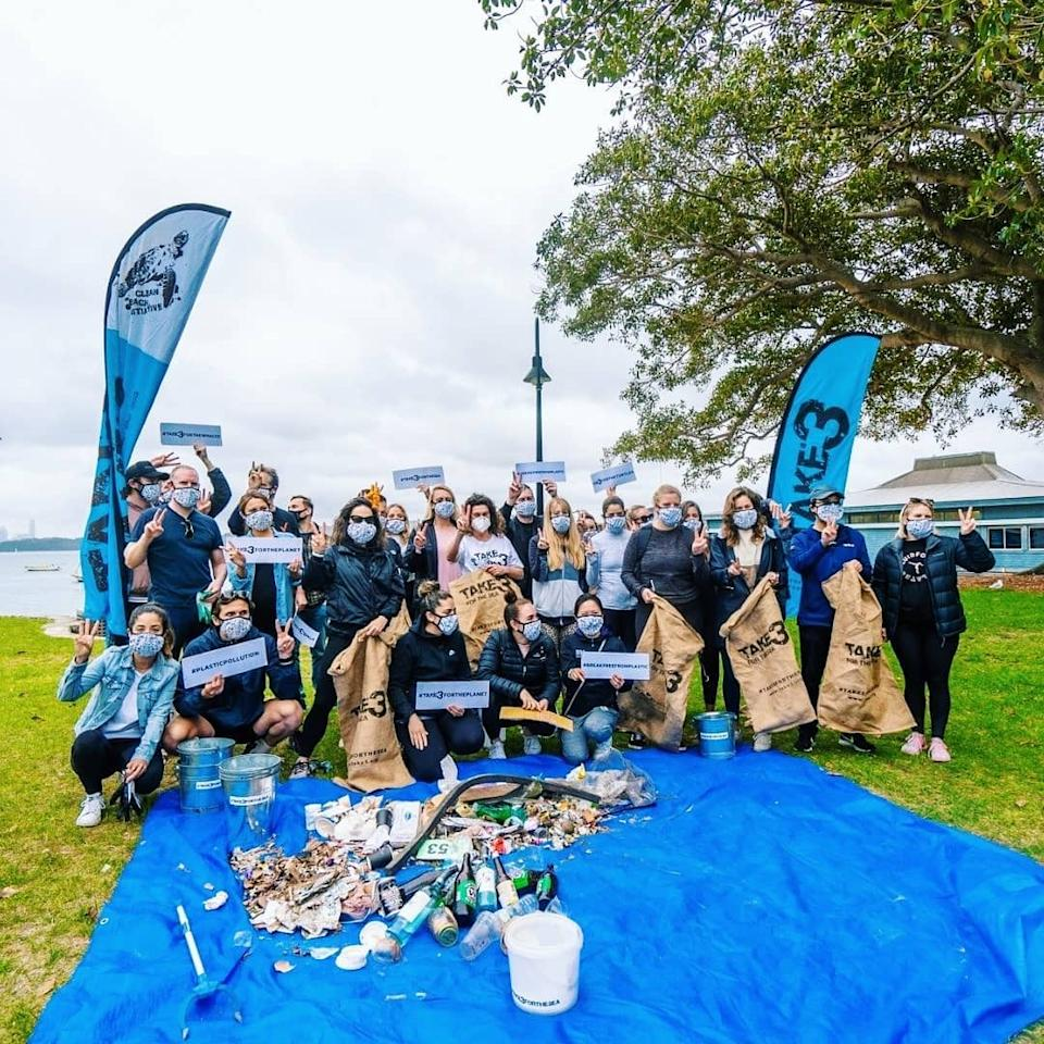 Over 100,000 people have participated in Take 3 beach clean-ups and events so far. Photo: Instagram/take3forthesea.