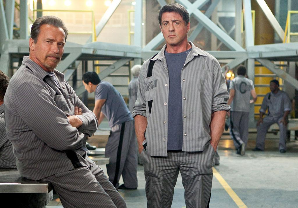 "Arnold Schwarzenegger and Sylvester Stallone in Summit Entertainment's ""Escape Plan"" - 2013"