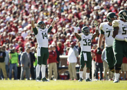 Bryce Petty and the Bears made a statement of their own against Oklahoma on Saturday. (USAT)