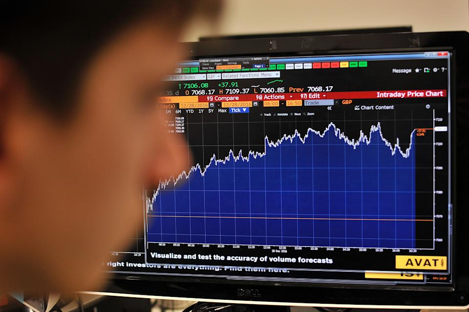 <p>FTSE 100 raises back to its February 2020 level </p> (Getty Images)