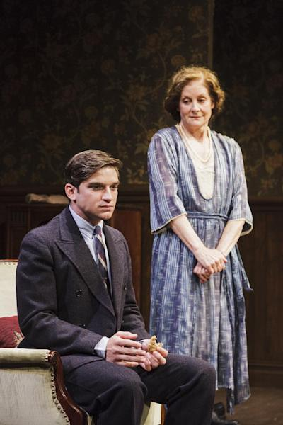 """This theater image released by Keith Sherman and Associates, Evan Jonigkeit, left, and Hallie Foote are shown in a scene from """" Harrison, TX"""" a bundle of three one-act plays; """"Blind Date,"""" """"The One-Armed Man"""" and """"The Midnight Caller"""", that will play until September at 59E59 Theaters in New York. (AP Photo/Keith Sherman and Associates, James Leynse)"""