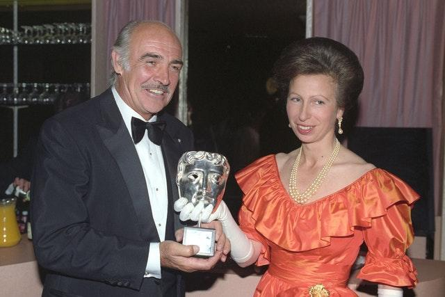 Royalty – Bafta Tribute Award – Princess Anne and Sean Connery – Odeon – Leicester Square, London