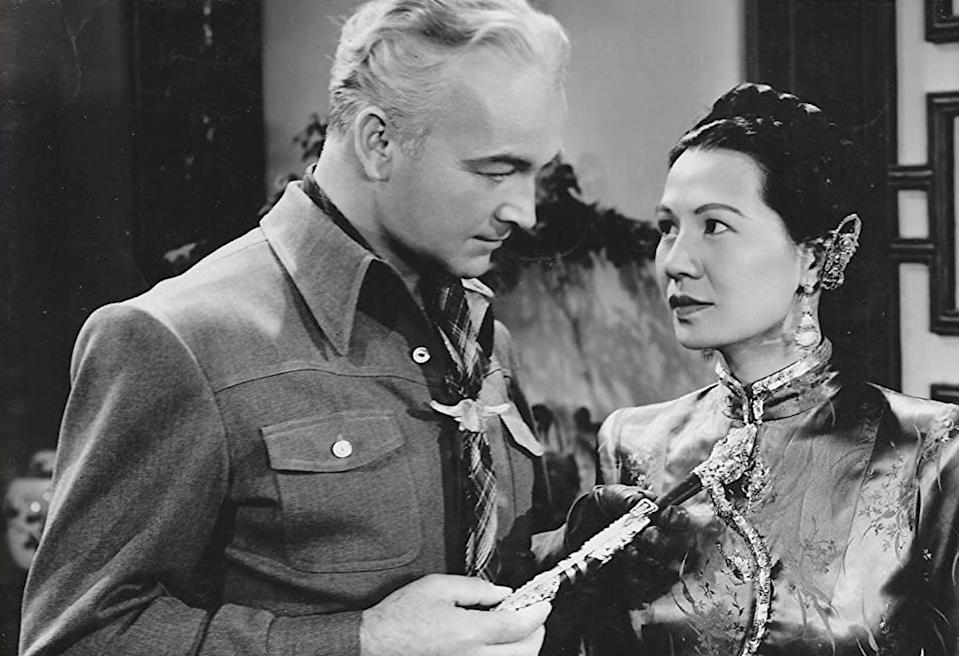 "<span class=""caption"">Soo Yong and William Boyd in a still from the film 'The Secret of the Wastelands' (1941).</span> <span class=""attribution""><span class=""source"">(Paramount Pictures)</span></span>"