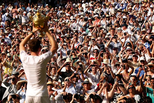 <p>2013 saw Murray become the first British man to win a singles title at Wimbledon since Fred Perry in 1936. (Getty Images) </p>