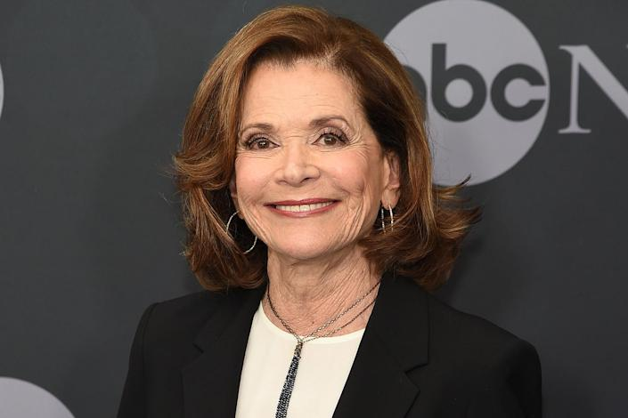 """<p>Walter, who <a href=""""https://people.com/tv/jessica-walter-dead-at-80-arrested-development-star/"""" rel=""""nofollow noopener"""" target=""""_blank"""" data-ylk=""""slk:died in March 2021"""" class=""""link rapid-noclick-resp"""">died in March 2021</a>, is up for outstanding voice-over performance at this Sunday's Emmys for her work on FXX's <em>Archer. </em>The actress — a five-time nominee who won in 1975 for her lead role in the limited series <em>Amy Prentiss — </em>is going against Stacy Abrams (<em>Black-ish</em>), Julie Andrews (<em>Bridgerton</em>), Tituss Burgess (<em>Central Park</em>), Seth MacFarlane (<em>Family Guy</em>), Maya Rudolph (<em>Big Mouth</em>) and Stanley Tucci (Central Park). </p>"""