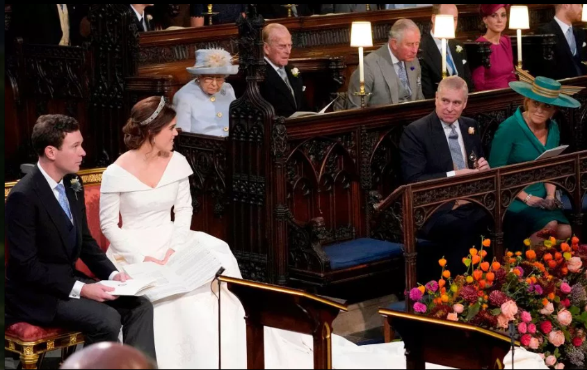 Sarah and Andrew, the Duke and Duchess of York put on a very united front at Princess Eugenie's wedding last year.