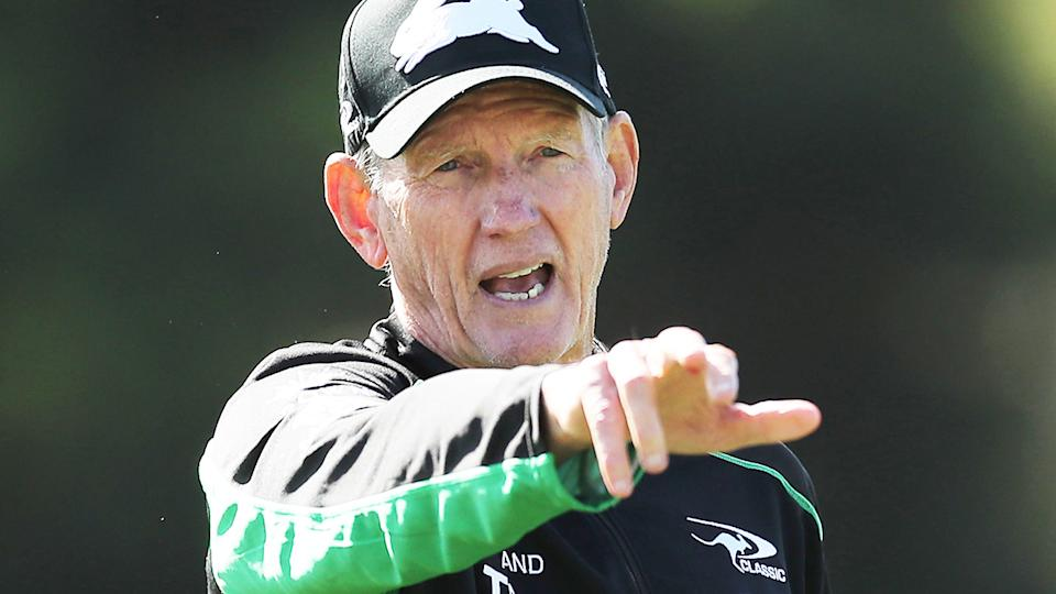 Wayne Bennett, pictured here during a South Sydney Rabbitohs training session.