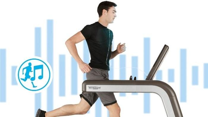 """<p><b></b></p><p>As any runner knows, crafting a good playlist is crucial to keeping up speed, momentum, and motivation. Here comes a treadmill that does it for you. At the beginning of the year at the International Consumer Electronics Show, <a href=""""http://www.technogym.com/us/"""">Technogym</a> previewed a treadmill that detects the runner's rhythm and plays songs — really, a soundtrack — accordingly. Called Running Music, which is a part of the company's cloud-based digital platform, it pulls from the user's personal inventory of songs and then automatically selects and streams the most suitable music according to the number of steps taken per minute. The company's platform is open, and therefore integrates the likes of FitBit, RunKeeper, Strava, and other running or exercise-based applications. If you don't end up getting your own Running Music-ready treadmill, there's a good chance it'll be coming to a gym near you: Technogym can currently be found in 65,000-plus wellness centers in the world. The wait begins now, as Running Music remains in preview mode.</p>"""