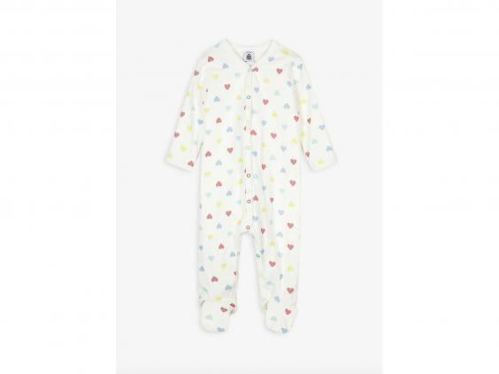 This gender-neutral babygrow would make a lovely gift to new parents (Selfridges)