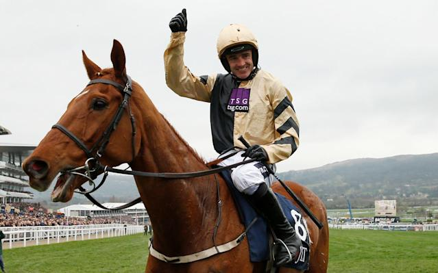 <span>Yorkhill registered Willie Mullins first win of the 2017 Cheltenham Festival in the JLT</span> <span>Credit: Reuters </span>
