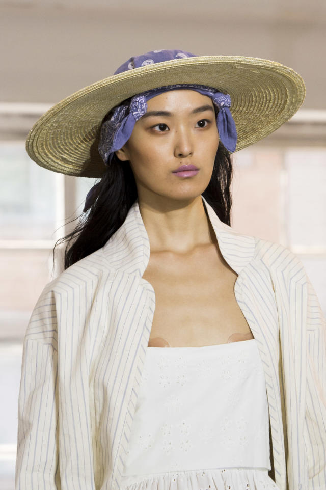 <p><i>Wide-brimmed woven hat from the SS18 Creatures of Comfort collection. (Photo: ImaxTree) </i></p>