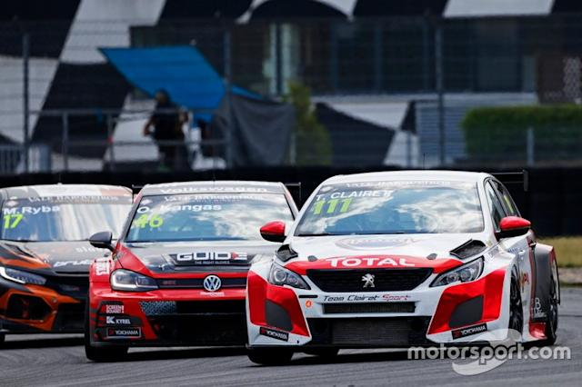 """Teddy Clairet, Team Clairet Sport Peugeot 308 TCR <span class=""""copyright"""">TCR Media</span>"""