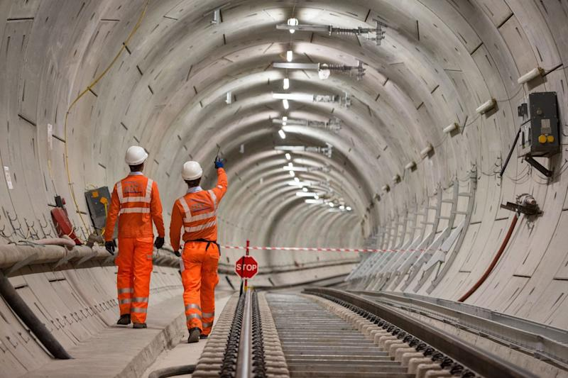Tunnel vision: the completed track in Whitechapel (PA)