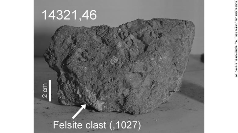 Earth's oldest rock was found by Apollo 14 astronauts -- on the moon