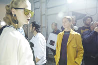<p>Otto supervises photographers backstage during Marni's runway rehearsal.</p>