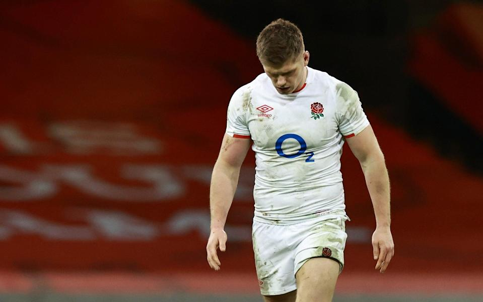 Owen Farrell refused to comment on the controversy surrounding Wales's first two tries - GETTY IMAGES