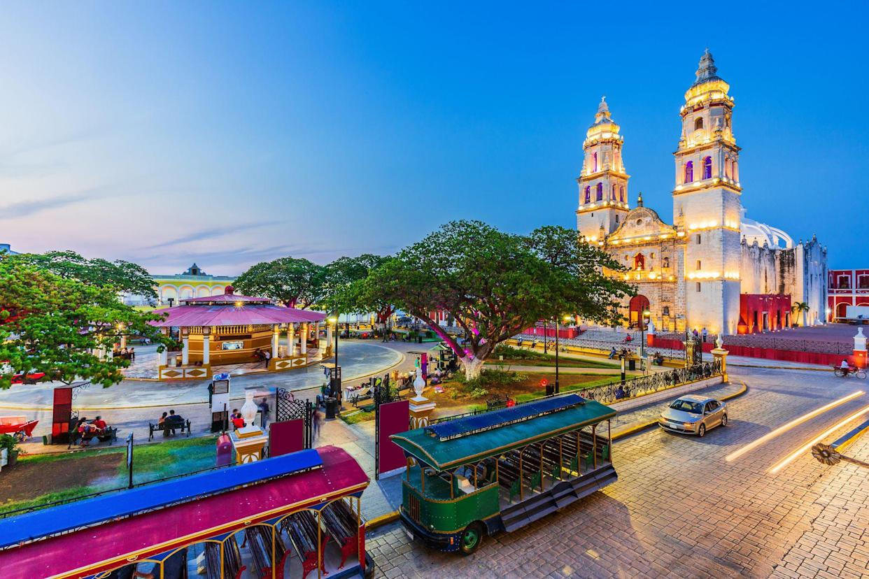 Campeche, Mexico. Independence Plaza in the Old Town of San Francisco de Campeche.