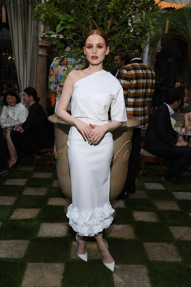 <p>Madelaine Petsch celebrates Max Mara's Women in Film Face of the Future Awards in Los Angeles on June 11.</p>