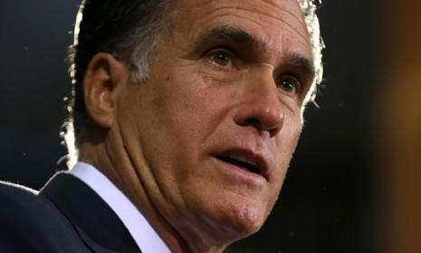"""""""It is the responsibility of our President to use America's great power to shape history — not to lead from behind,"""" said Mitt Romney during an Oct. 8 speech on foreign policy."""