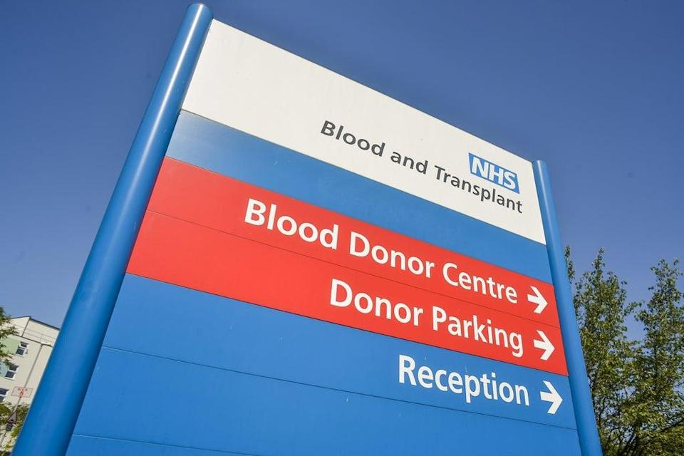 """It is hoped blood donation will be made more inclusive through the removal of a question on the donor form branded """"outdated"""" and """"discriminatory"""" (Handout/NHS Blood and Transplant/PA) (PA Media)"""